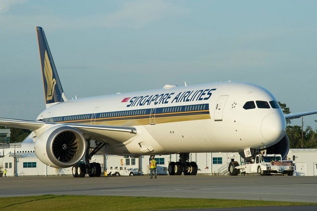 SIA first 787-10 / Pic by Boeing