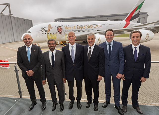 100th Emirates A380