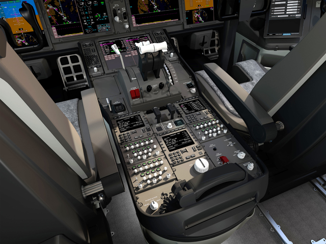 777X Flight deck