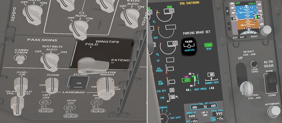777X wingfold displays Boeing