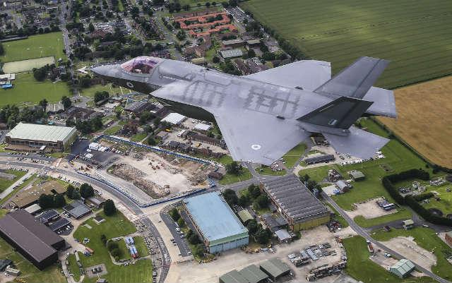 F-35B over Marham - Crown Copyright