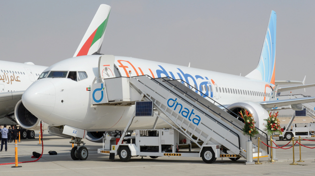 Flydubai 737 Max Dubai air show 2017