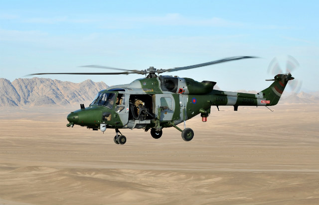 Lynx AH9A Afghanistan - Crown Copyright
