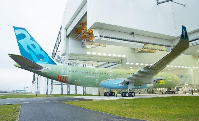 A330-800 entering paint