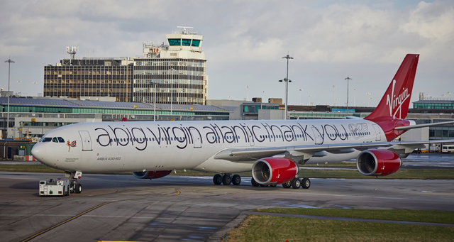 Virgin special livery 'sleeping beauty'