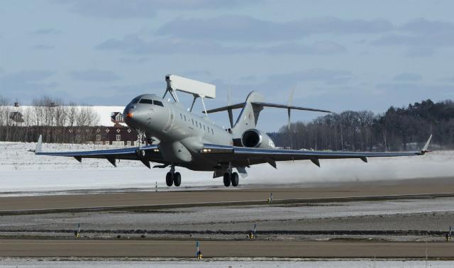 GlobalEye take-off - Saab