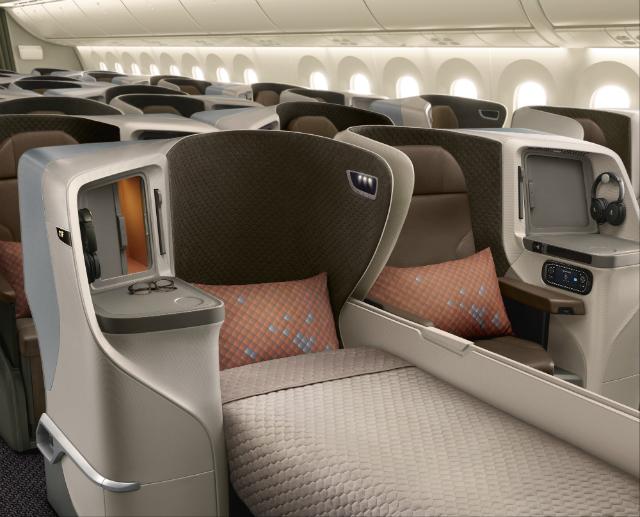 SIA 787 full flat business class