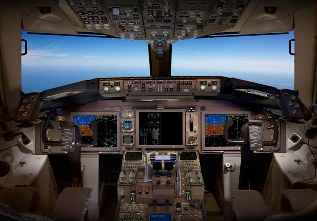 767 cockpit