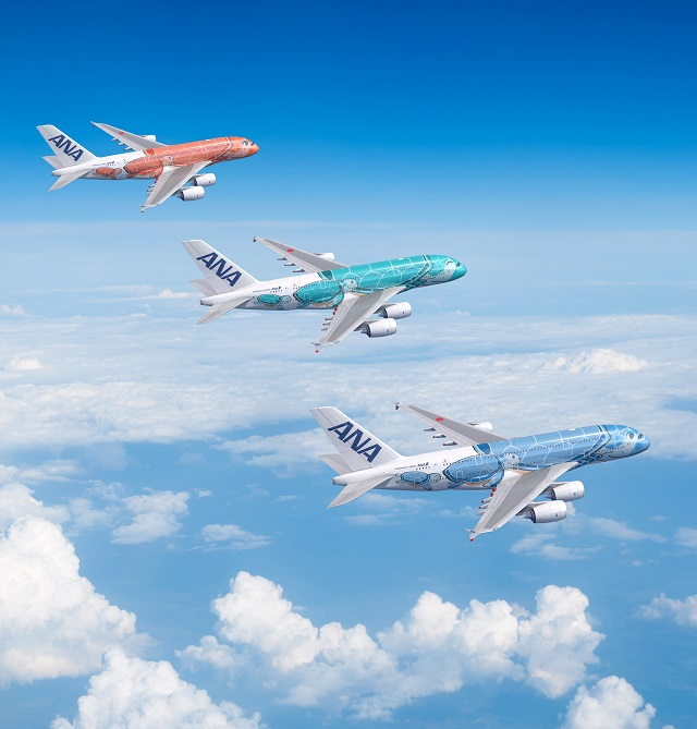 ANA A380 liveries