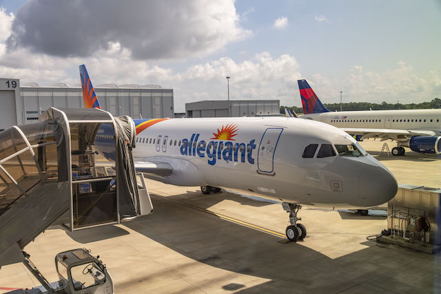 Allegiant first new A320 from Airbus Mobile