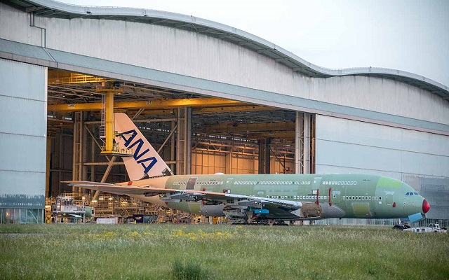 ANA A380 rollout