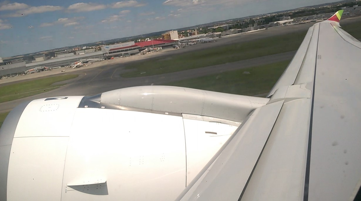 A330neo departure from Toulouse Blagnac