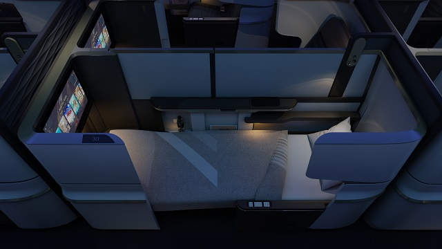 Business-class suite bed