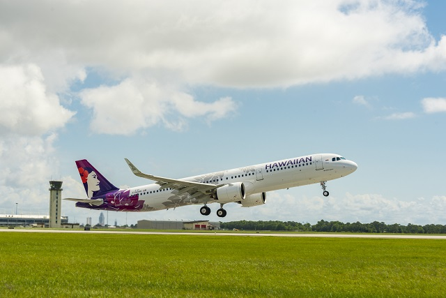 First Mobile A320-neo, A321neo for Hawaiian. Airbu