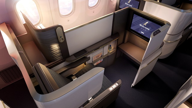 Gulf Air 787 business-class suite