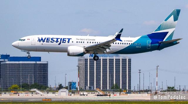 WestJet new livery 737 Max 8 062918 640px