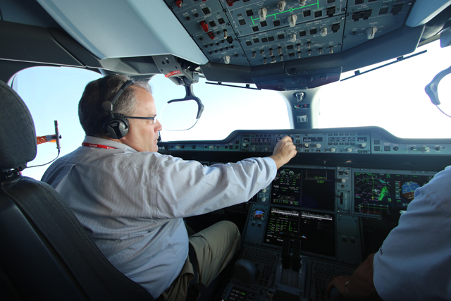 A350-1000 flight test cockpit
