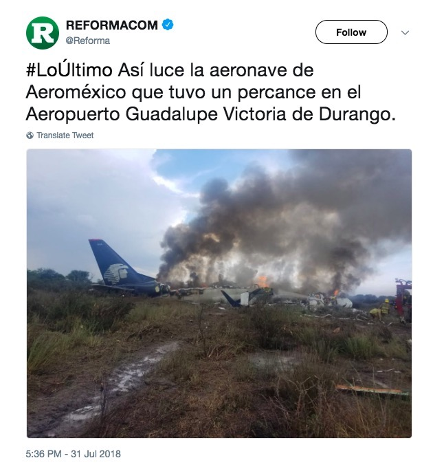 Aeromexico 2431 Durango crash