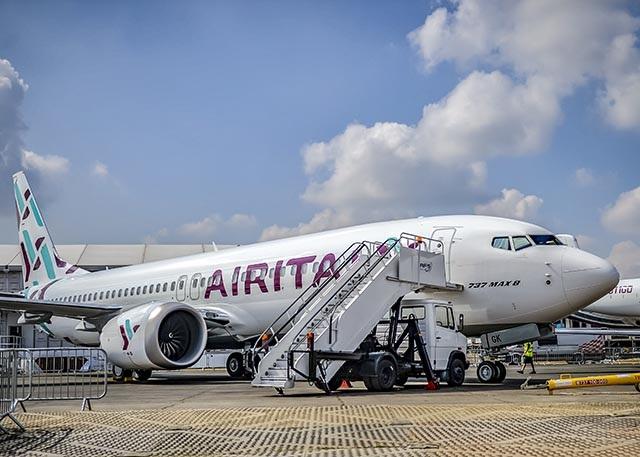 AIRITALY-737-MAX-8 Farnborough