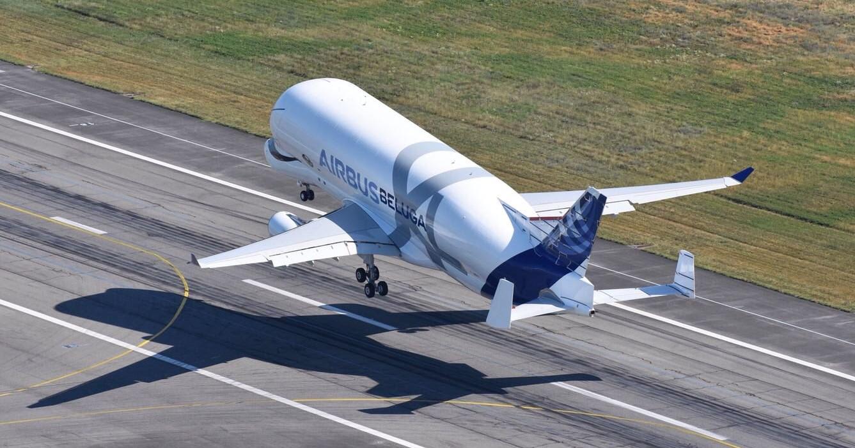 BelugaXL first flight