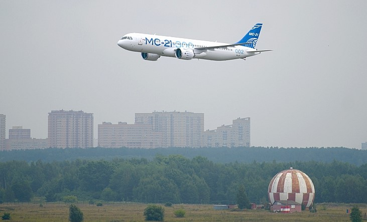 MC-21 in flight