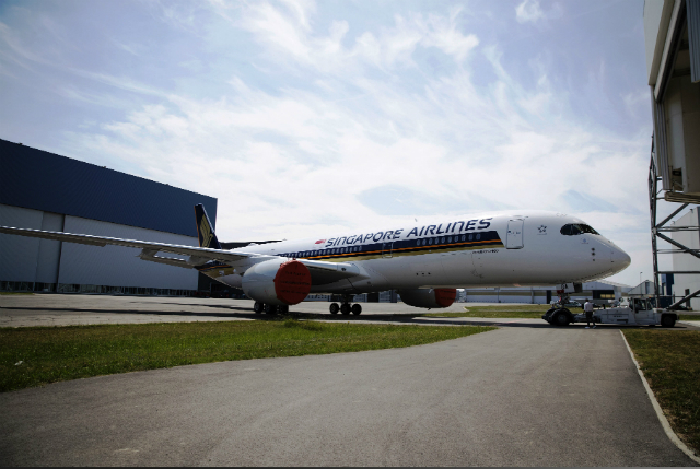 SIA A350 ULR roll out - Pic by Airbus