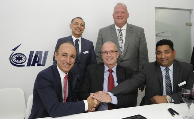 SNC and IAI UAV agreement signing