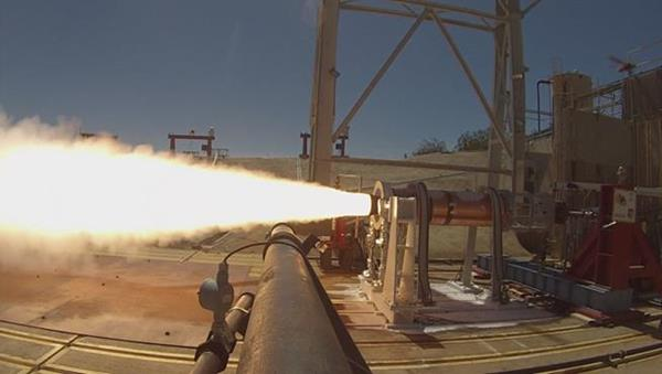 Aerojet Rocketdyne rocket booster test for hyperso