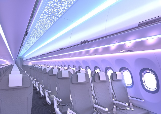 A320 Airspace cabin. Airbus. 640px