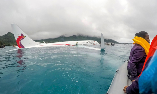 Air Niugini crash at Chuuk airport