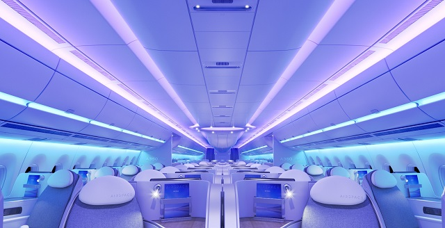 Airbus A350 Airspace cabin. Airbus. 640px