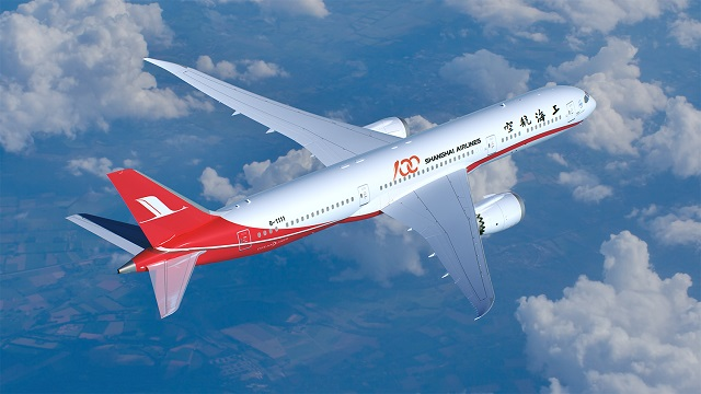 Boeing 787-9 in Shanghai Airlines colours - comput
