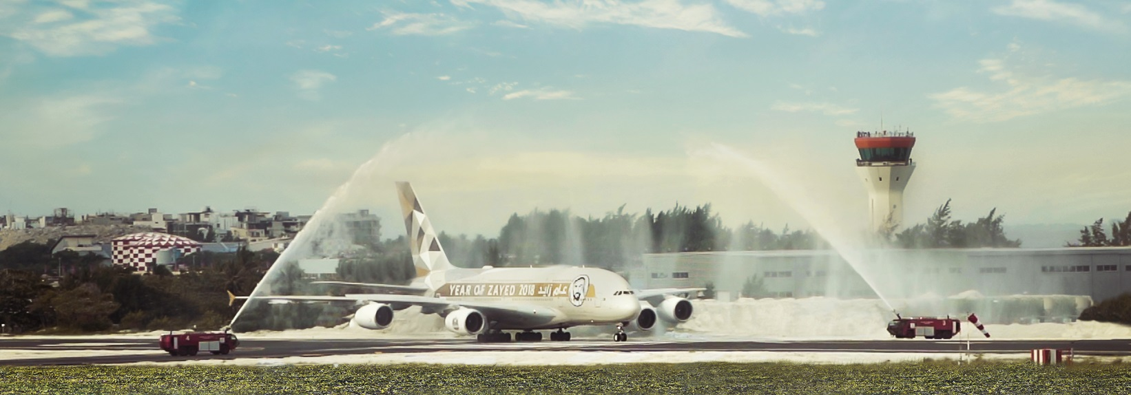 Etihad A380 at Male (cropped)