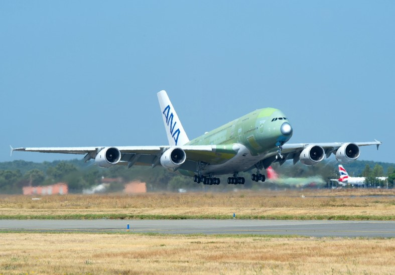 First ANA A380 flight