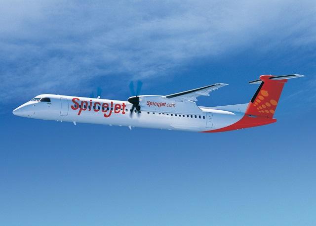 SpiceJet Q400. Bombardier 640px