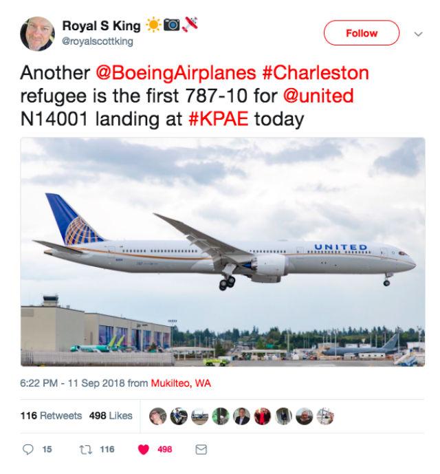 United 787-10 tweet