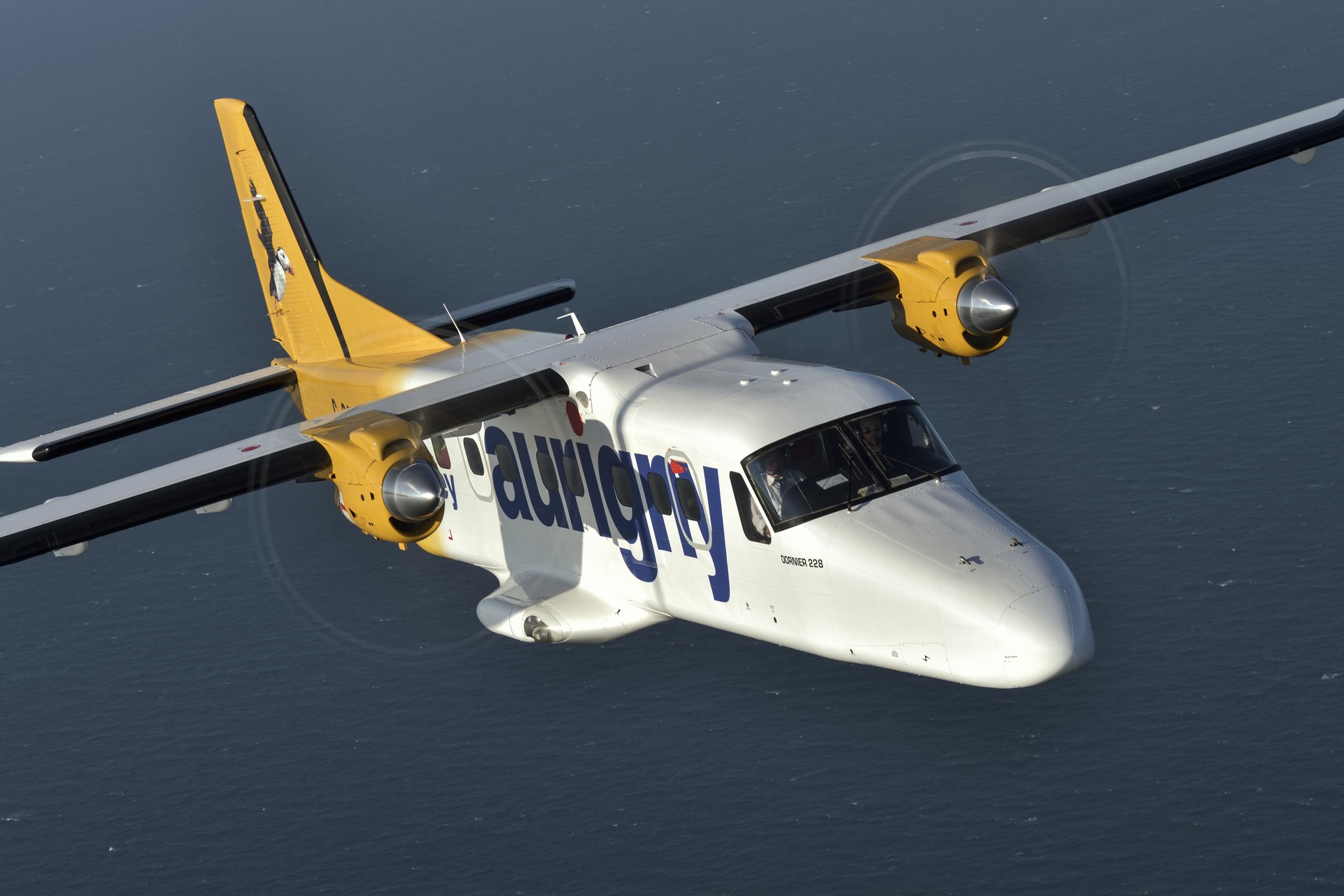 Aurigny Dornier 228 in flight