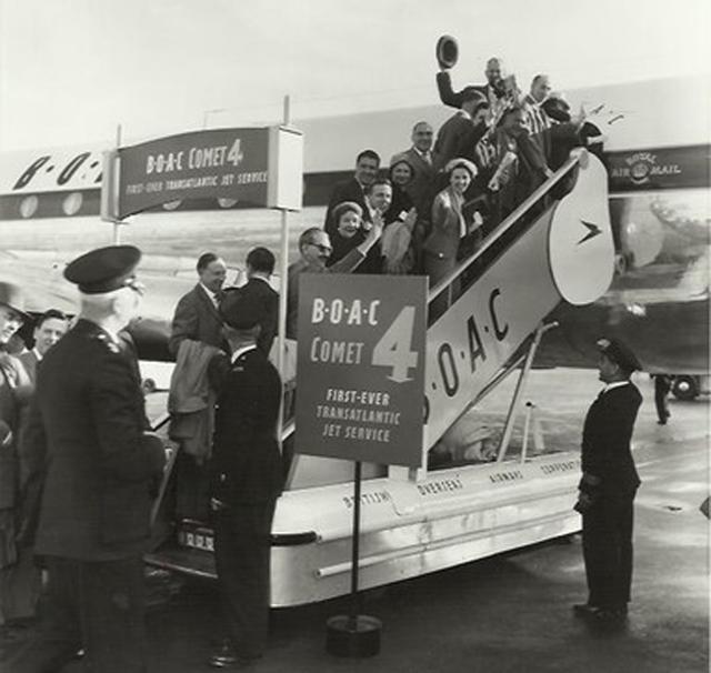 BA Comet 4 first ever transatlantic jet service
