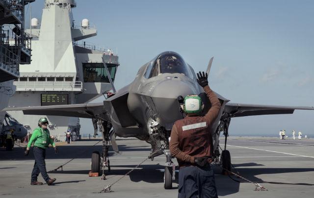 F-35B Queen Elizabeth deck - Crown Copyright