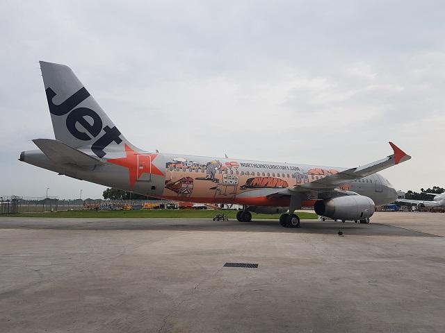 Jetstar Asia Singapore-Darwin 10th year anniversar