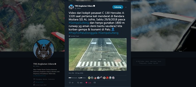 Palu airport - from Indonesia air force