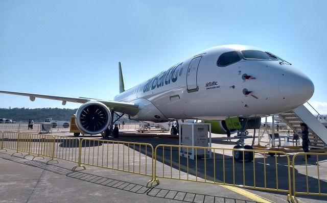 Air Baltic A220-300 at Zhuhai