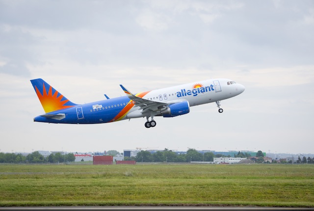 Allegiant first new A320 Credit: Airbus