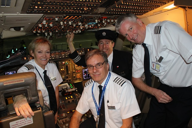 BA 767 Final Flight crew cockpit James Mellon - Fl