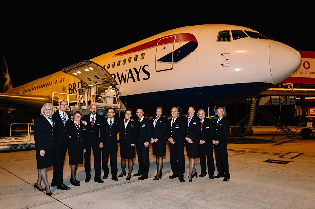 British Airways stock B767 Final Flight cabin crew