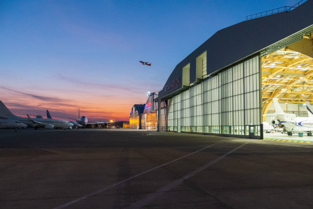 Jet Aviation widebody hangar