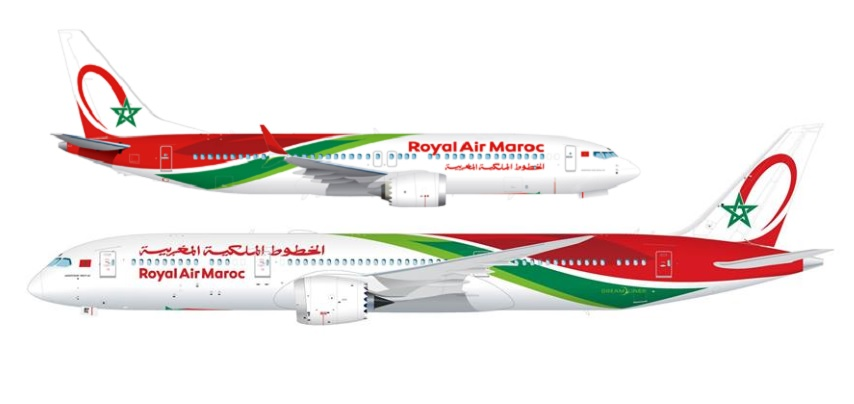 RAM 737 Max and 787-9 livery