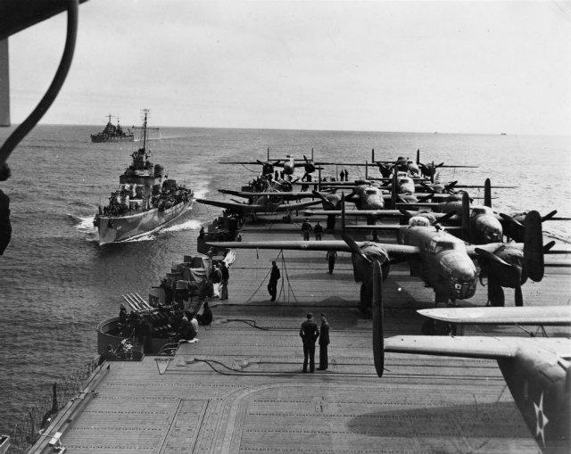 B-25s USS Hornet 1942 Doolittle Raid 640 c US Air