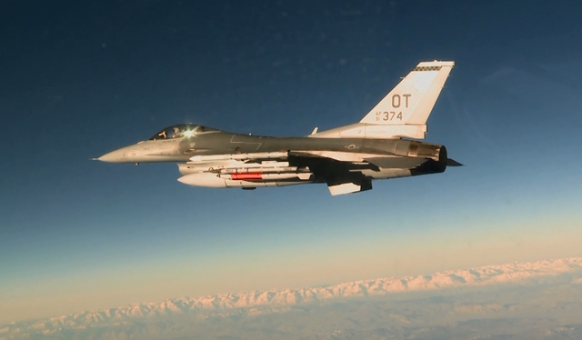 F-16C with B61-12 during a development flight test
