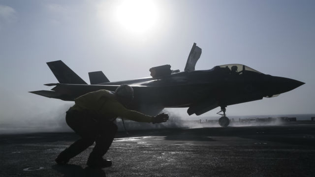 F-35B USS ESSEX 640 c Cpl Francisco J Diaz Jr USMC